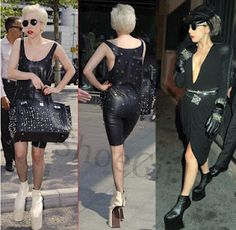 Lady Gaga in heel-less shoes. http://shoes-n-more.blogspot.com/2012/04/shoe-of-day-45lady-gaga.html