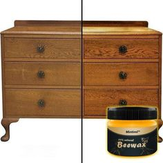 Wenini Natural Wood Seasoning Beeswax Complete Solution Furniture Care Beeswax Home Cleaning Cleaner and Protector Wax. Renew Cutting Boards, Woods, Bamboo, Wooden Surfaces (Without Scrub Sponges) Furniture Care, Old Furniture, Furniture Design, Beeswax Polish, Wood Wax, Wood Surface, Wood Cutting Boards, Wood Cabinets, Cleaning