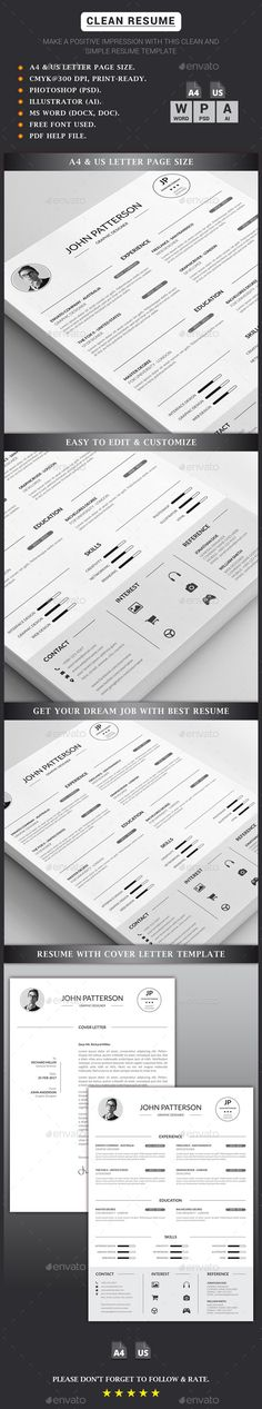 Resume Resume cv, Design resume and Infographic resume - resume paper size