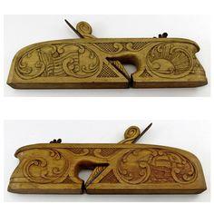 ULMIA GEORG OTT Vintage WOOD PLANE German Woodworking Tool CARVED DECORATION