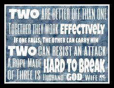 Ecclesiastes 4 9 12 Wedding