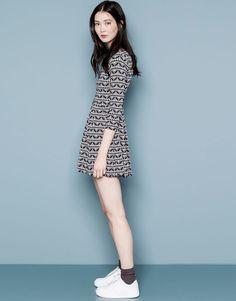 Pull&Bear - dames - jurken - gelaagde etnische jacquard jurk - zwart - 05392313-V2015