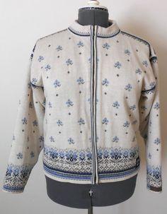 Womens Dale of Norway Salt Lake Olympic 2002 Wool Cardigan Sweater Zipper Lined #DaleOfNorway #Cardigan