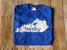 e07fd174 Items similar to Blue Kentucky Derby V-neck t-shirt, tri blend tee, Kentucky  state shirt, Talk Derby to me on Etsy
