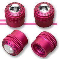Pink Car Accessories tire valve caps
