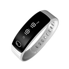 Smart band Step Tracker Pedometer Smart Bracelet Fitness Activity Tracker Sleep MonitorCalories Track Sweatproof Bluetooth Health Fitness Band for iPhone  Android phones White >>> See this great product.