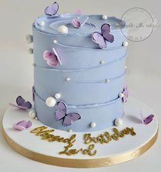Creative Birthday Cakes, Elegant Birthday Cakes, Beautiful Birthday Cakes, Butterfly Birthday Cakes, Butterfly Cakes, Pretty Cakes, Cute Cakes, Birthday Cake For Papa, Cake Designs For Girl