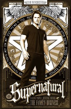 Sam Winchester {Jared P.} Supernatural poster set by Ryan Huddle. Supernatural Angel Wings, Supernatural Poster, Supernatural Wallpaper, Supernatural Tv Show, Men Of Letters, Dont Touch My Phone Wallpapers, Winchester Boys, Destiel, Dance Music