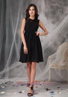 The Brand New Style Black Empire High-neck Little Black Dress Chiffon Lace Knee-length - US$97.49 2013 little black dress -  black prom dress,  #junior little black dress