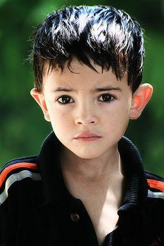 'The look' (Kalashi boy, Pakistan)