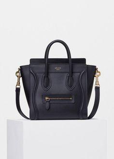 Nano Luggage Handbag in Smooth Calfskin - Céline