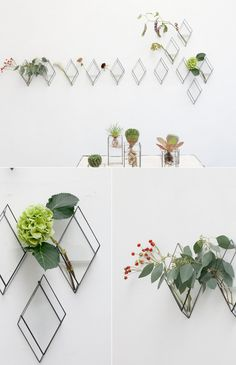hanging diamond vases / 1012 Terra