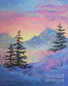 Serene Sunset. oil painting, 12 x 16 by Teresa Ascone. http://www.teresaascone.com