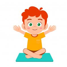 Happy Cute Little Kid Boy Practice Yoga Poses Yoga Enfants, Kids Yoga Poses, Yoga For Kids, Exercise For Kids, Yoga Vector, Chico Yoga, Children's Book Characters, Indian Boy, Unicorn Cat