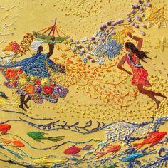 O grupo Matizes Dumontprojeta como realização estética o fazer anônimo de bordadeiras do país e do mundo ao longo dos tempos. Pontos criados com maestria se unem para formar telas, para ilustrara livros, para encantar olhares e retratar o Brasil, sua gente, suas cores, suas brincadeiras, sua natureza, em realizações que sem perder o coração …