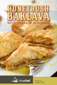 Honeybush Tea Baklava with Almonds and Dates