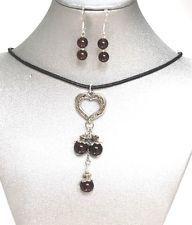 Natural Gemstone Garnet Necklace Earrings Love Healing Protection Chakra USA