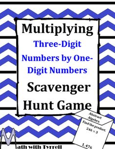 Do you need to spice up your multiplying lesson? These scavenger hunts are a great way to get students engaged and excited about math. The format allows you to identify students who need remediation and work one-on-one with them.