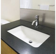 "View the Miseno MNO1812RU 18-3/4"" Undermount Bathroom Sink with Overflow (Mounting Clips Included) at FaucetDirect.com."