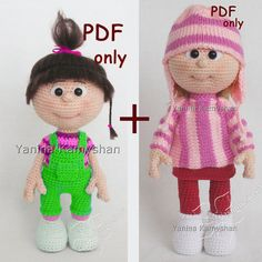 Little baby girl Doll in sweater and hat bundle von jasminetoys