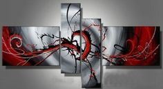 Santin Art – Hand-painted Passion Color High Q. Home Decoration Modern Abstract Best-selling Oil Painting on Canvas…