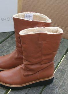 Kaufe meinen Artikel bei #Kleiderkreisel http://www.kleiderkreisel.de/damenschuhe/stiefel/126112088-topshop-stiefel-39-leder-cognac
