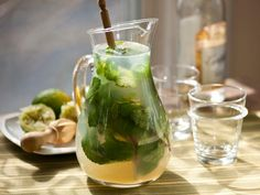 Mojitos by the pitcher. (This recipe takes limes *and* lemons. Another variation of this uses Caption Morgan's Spiced Rum.)
