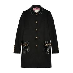 GUCCI WOOL AND LEATHER COAT. #gucci #cloth #