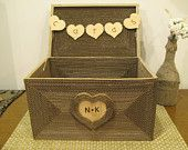 SMALL Personalized Shabby Chic wedding card box by ByNaturelle
