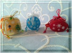CHRISTMAS SNOW MAGIC SOAPS Christmas memories with three gorgeous soaps that will steal your heart ... They are all glycerin soap, transparent