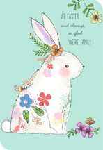 White Bunny With Flowers Easter Card for Relative April Easter, Easter Art, Happy Easter, Easter 2021, Egg Crafts, Easter Crafts, Easter Paintings, Watercolor Cards, Watercolour
