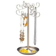 The Container Store > Expandable Jewelscope Jewelry Tree by Umbra® for Sara - love this! Jewelry Display Box, Jewellery Storage, Jewelry Organization, Home Organization, I Heart Organizing, Organizing Ideas, St Michael Pendant, Craft Fair Displays, Container Organization