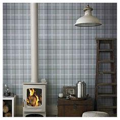 Graham & Brown Plaid Skye Wallpaper - Blue