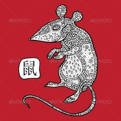 Rat. Chinese Zodiac. Animal Astrological Sign.  #GraphicRiver         Chinese Zodiac. Chinese Animal astrological sign. Vector Illustration.     Created: 11November13 GraphicsFilesIncluded: JPGImage #VectorEPS Layered: No MinimumAdobeCSVersion: CS Tags: animal #art #asian #astrology #background #calendar #calligraphy #celebration #chinese #culture #cut #decoration #design #festival #graphic #happy #horoscope #illustration #isolated #oriental #painting #pattern #red #sign #stroke #symbol…