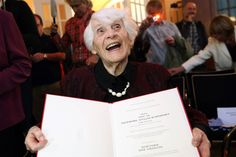"""102-year-old Ingeborg Syllm-Rapoport became the world's oldest person to receive a doctorate degree on Tuesday -- nearly 80 years after she was denied her PhD at the University of Hamburg for """"racial reasons"""" due to her Jewish heritage. Last month, the centenarian at long last had the opportunity to defend her doctoral thesis on diphtheria before an academic committee, 77 years after she first completed it."""