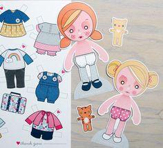Printable PDF Paper Dolls Ginger & Blondie