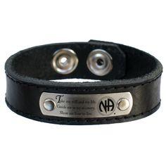 NA Third 3rd Step Prayer Leather Bracelet: Jewelry: Amazon.com
