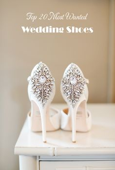 gorgeous ivory crystal wedding high heel shoes