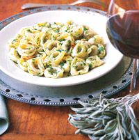 Garlic, sage, butter - what else do you need for a savory pasta dinner? Find out how amazing a few simple ingredients can be together.Recipe: Tortellini with Garlic Sage Butter Sauce