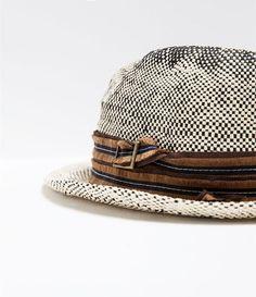 ZARA - HOMBRE - Sombrero paja doble cinta Oufits Hombre c28084613e3