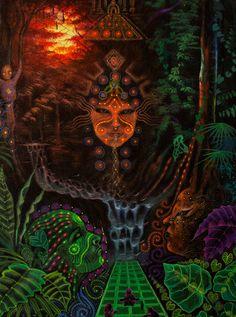 Vision de l'ayahuasca par AyaVisiones sur Etsy