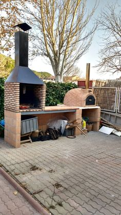 85 Beautiful outdoor kitchen and grill for summer garden ideas - # outdoor . 85 beautiful outdoor kitchen and grill for summer garden ideas –# Outdoor kitchen ideas Outdoor Kitchen Grill, Pizza Oven Outdoor, Backyard Kitchen, Outdoor Kitchen Design, Backyard Patio, Backyard Landscaping, Backyard Ideas, Outdoor Kitchens, Patio Ideas