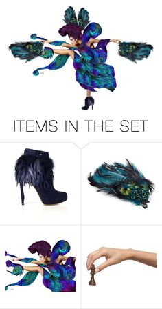 """Peacock dance"" by susonwil83 ❤ liked on Polyvore featuring art"