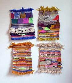 little textiles by New Friends Weaving Textiles, Weaving Art, Loom Weaving, Tapestry Weaving, Hand Weaving, Art Textile, Textile Design, Weaving Projects, Tear