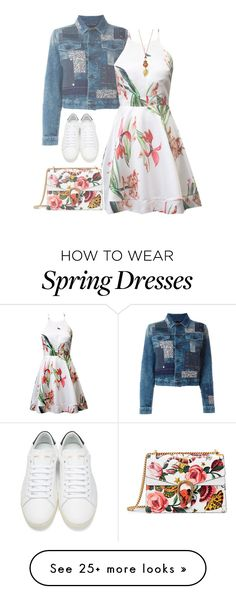 """""""Spring Floral (3)"""" by forever-lover1 on Polyvore featuring Diesel, Gucci and Yves Saint Laurent"""