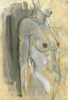 "Saatchi Art Artist Ute Rathmann; Drawing, ""Nude I"" #art"