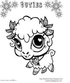 new lamb coloring page