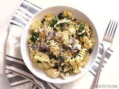 Parmesan & Pepper Kale Pasta - BudgetBytes.com