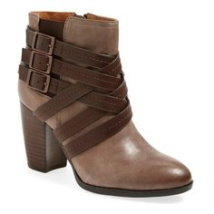 "Sofft 'Arminda' Boot, 3 1/2"" heel ($166) ❤ liked on Polyvore featuring shoes, boots, ankle booties, ankle boots, grey, gray booties, short grey boots, grey ankle boots, high heel booties and sofft boots"