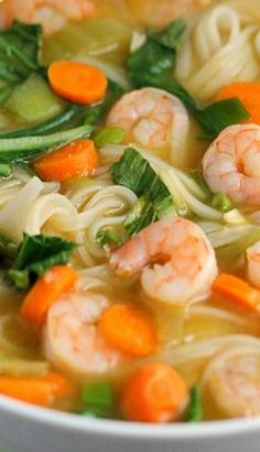 Asian Noodle Soup - I think i'll try this with ramen noodles, could be a great quick lunch or dinner. Asian Noodle Soup - I think i'll try this with ramen noodles, could be a great quick lunch or dinner. Rice Noodle Soups, Ramen Noodles, Asian Noodles, Ramen Soup, Seafood Recipes, Cooking Recipes, Ramen Recipes, Quick Soup Recipes, Chinese Soup Recipes